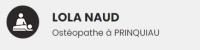 Lola NAUD, ostéopathe à Prinquiau et Bouée